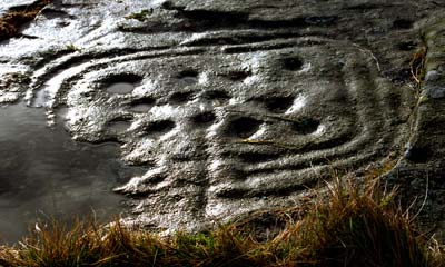 Rock art at Dod Law